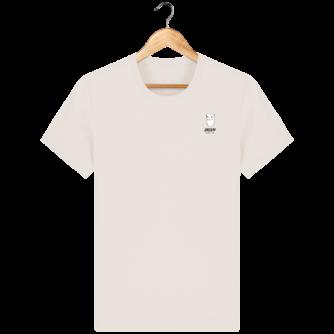 Tee Shirt Homme Hermine Bretonne - Breizh Traveller - Off White - Face