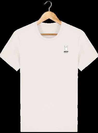 Tee Shirt Homme Hermine Bretonne - Breizh Traveller - Vintage White - Face