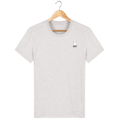 Tee Shirt Homme Hermine Bretonne - Breizh Traveller - Cream Heather Grey - Face