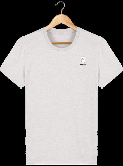 Tee Shirt Homme Hermine Bretonne - Breizh Traveller - Cream Heather Grey - Face