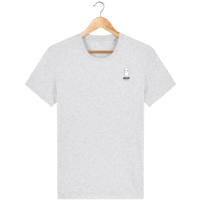 Tee Shirt Homme Hermine Bretonne - Breizh Traveller - Heather Ash - Face