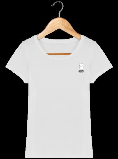 Tee Shirt Femme Hermine Bretonne - Breizh Traveller - White - Face