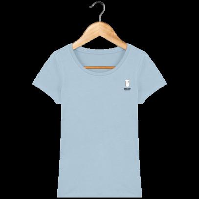 Tee Shirt Femme Hermine Bretonne - Breizh Traveller - Sky blue - Face