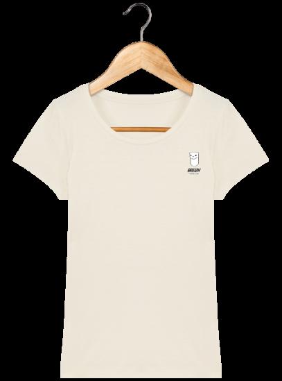 Tee Shirt Femme Hermine Bretonne - Breizh Traveller - Natural - Face