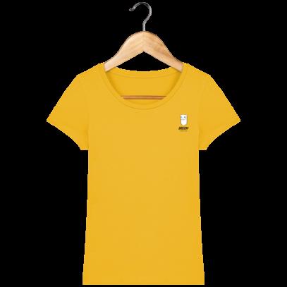 Tee Shirt Femme Hermine Bretonne - Breizh Traveller - Spectra Yellow - Face