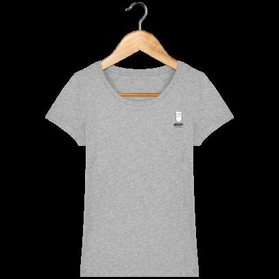 Tee Shirt Femme Hermine Bretonne - Breizh Traveller - Heather Grey - Face