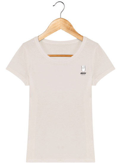 Tee Shirt Femme Hermine Bretonne - Breizh Traveller - Off White - Face