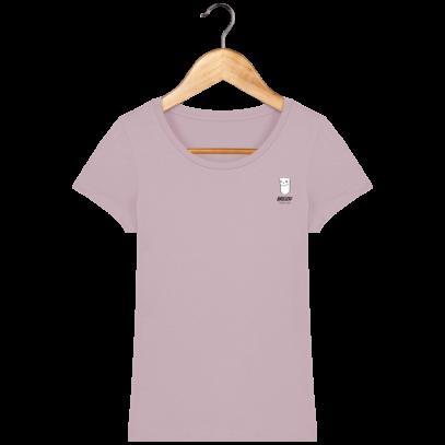 Tee Shirt Femme Hermine Bretonne - Breizh Traveller - Lilac Peak - Face