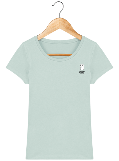 Tee Shirt Femme Hermine Bretonne - Breizh Traveller - Caribbean Blue - Face