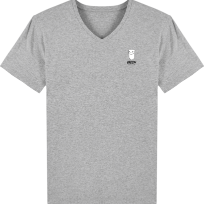 Tee Shirt Homme Col V Stanley PRESENTER - Heather Grey - Face