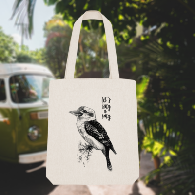 Tote Bag Koukaburra – Let's sing a song