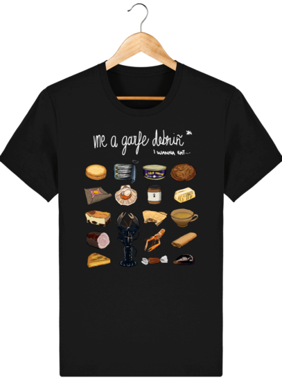 T Shirt Breton Gastronomie Bretonne - Black - Face