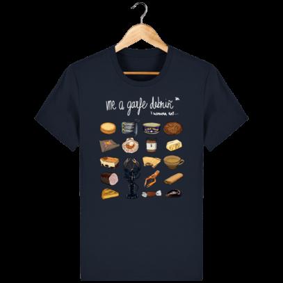 T Shirt Breton Gastronomie Bretonne - French Navy - Face
