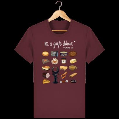 T Shirt Breton Gastronomie Bretonne - Burgundy - Face