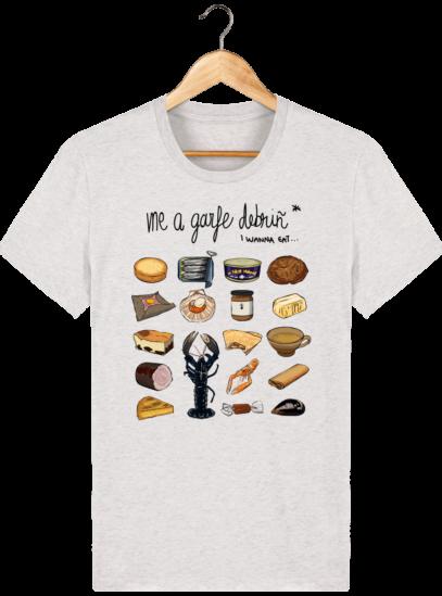 T Shirt Breton Gastronomie Bretonne - Cream Heather Grey - Face