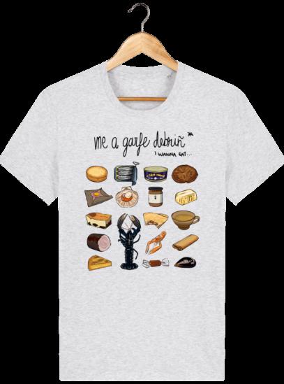 T Shirt Breton Gastronomie Bretonne - Heather Ash - Face