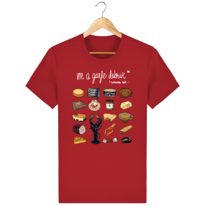 T Shirt Breton Gastronomie Bretonne - Red - Face