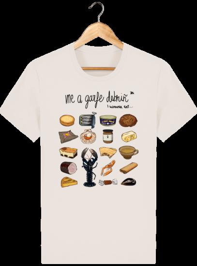 T Shirt Breton Gastronomie Bretonne - Off White - Face