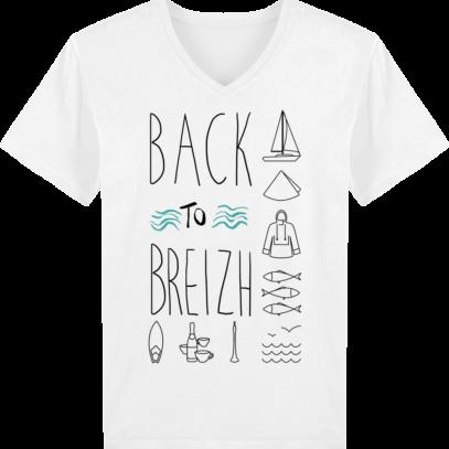 T-Shirt Bretagne – Back to Breizh – De retour en Bretagne - White - Face