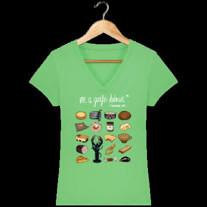T Shirt Breton - Gastronomie Bretonne - Chameleon Green - Face