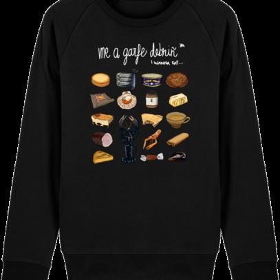 Sweat Shirt Breton - Gastronomie Bretonne - Black - Face