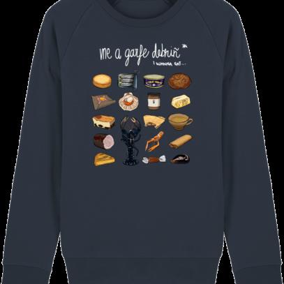 Sweat Shirt Breton - Gastronomie Bretonne - French Navy - Face