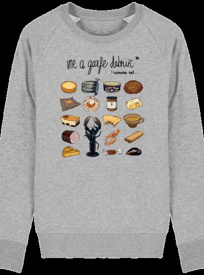 Sweat Shirt Breton - Gastronomie Bretonne - Heather Grey - Face