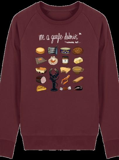 Sweat Shirt Breton - Gastronomie Bretonne - Burgundy - Face