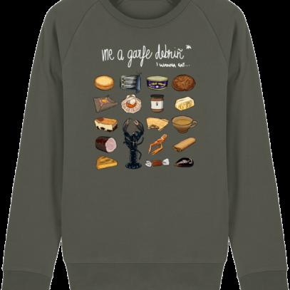 Sweat Shirt Breton - Gastronomie Bretonne - Khaki - Face