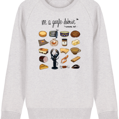 Sweat Shirt Breton - Gastronomie Bretonne - Cream Heather Grey - Face