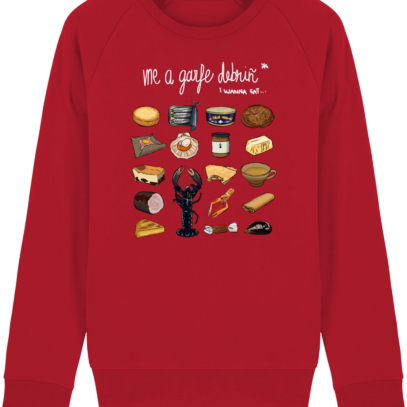Sweat Shirt Breton - Gastronomie Bretonne - Red - Face