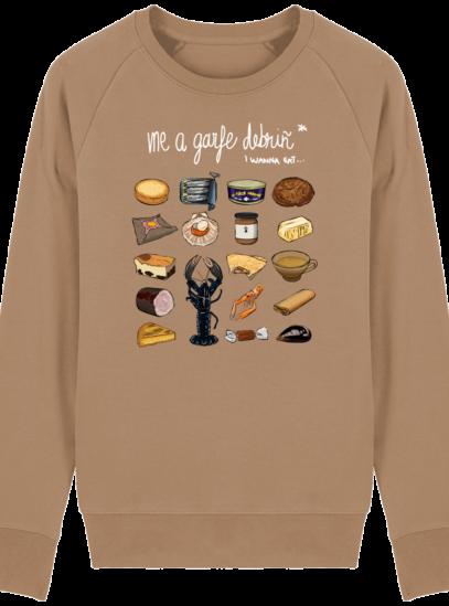 Sweat Shirt Breton - Gastronomie Bretonne - Camel - Face