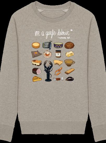 Sweat Shirt Breton - Gastronomie Bretonne - Heather Sand - Face
