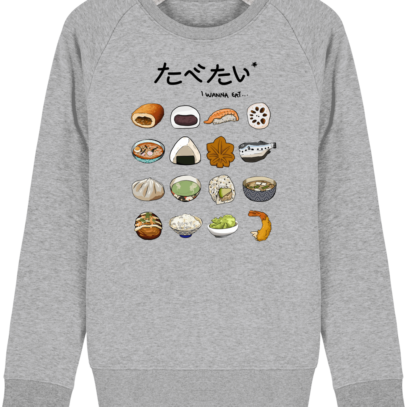 Sweat Shirt Gastronomie Japonaise / Japanese food - Heather Grey - Face