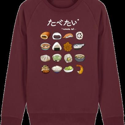 Sweat Shirt Gastronomie Japonaise / Japanese food - Burgundy - Face