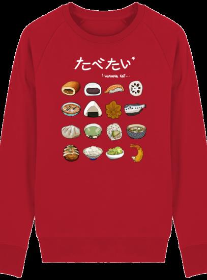 Sweat Shirt Gastronomie Japonaise / Japanese food - Red - Face