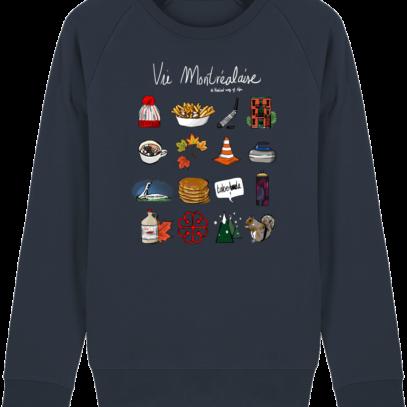 Sweat Shirt Vie Montréalaise - Montréal, way of live - French Navy - Face