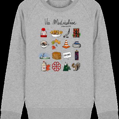 Sweat Shirt Vie Montréalaise - Montréal, way of live - Heather Grey - Face