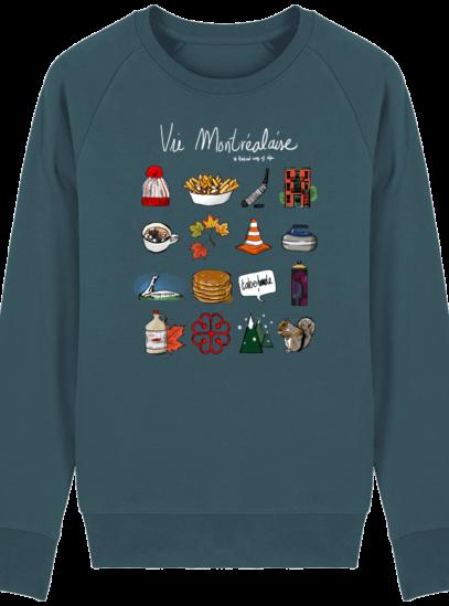 Sweat Shirt Vie Montréalaise - Montréal, way of live - Stargazer - Face
