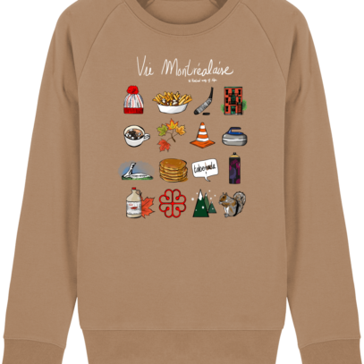 Sweat Shirt Vie Montréalaise - Montréal, way of live - Camel - Face