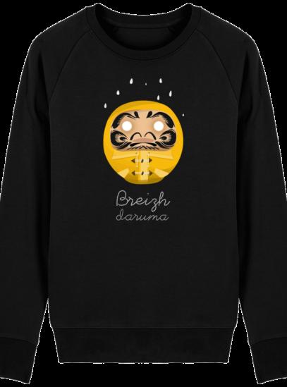 Sweat Shirt Breton - Breizh Daruma Ciré Jaune - Black - Face