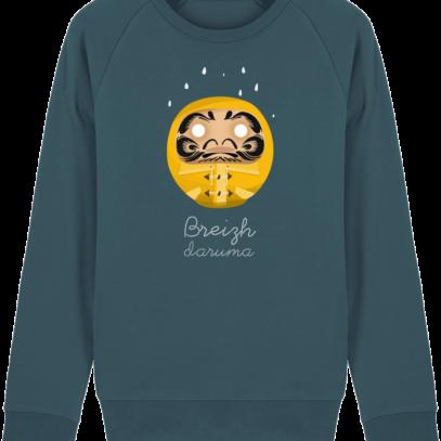 Sweat Shirt Breton - Breizh Daruma Ciré Jaune - Stargazer - Face