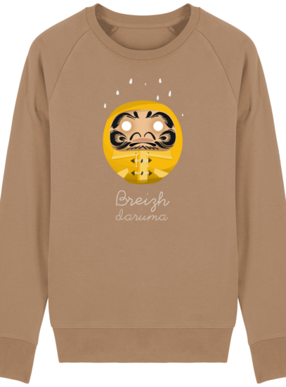 Sweat Shirt Breton - Breizh Daruma Ciré Jaune - Camel - Face