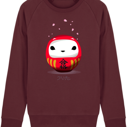 Sweat Shirt Breton - Breizh Daruma Hermine - Burgundy - Face