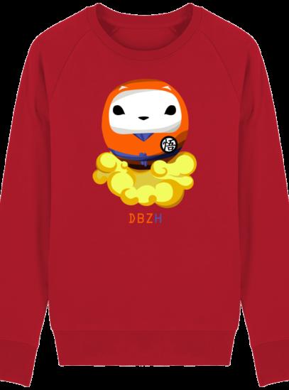 Sweat Shirt Breton - DBZH Breizh Daruma Dragon Ball Z - Red - Face