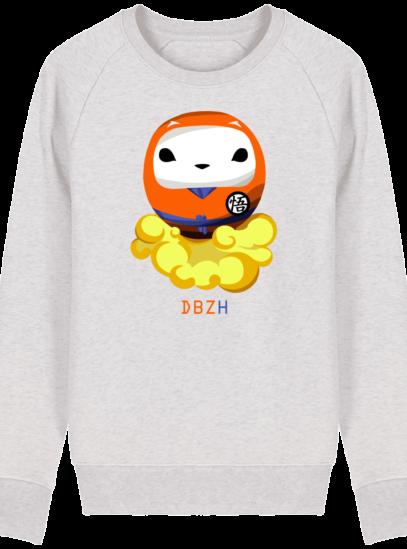 Sweat Shirt Breton - DBZH Breizh Daruma Dragon Ball Z - Cream Heather Grey - Face