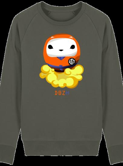 Sweat Shirt Breton - DBZH Breizh Daruma Dragon Ball Z - Khaki - Face