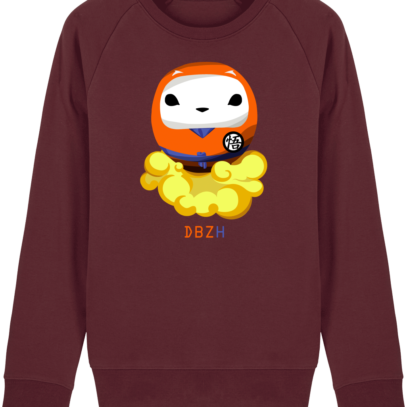 Sweat Shirt Breton - DBZH Breizh Daruma Dragon Ball Z - Burgundy - Face