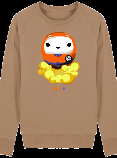 Sweat Shirt Breton - DBZH Breizh Daruma Dragon Ball Z - Camel - Face