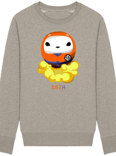 Sweat Shirt Breton - DBZH Breizh Daruma Dragon Ball Z - Heather Sand - Face